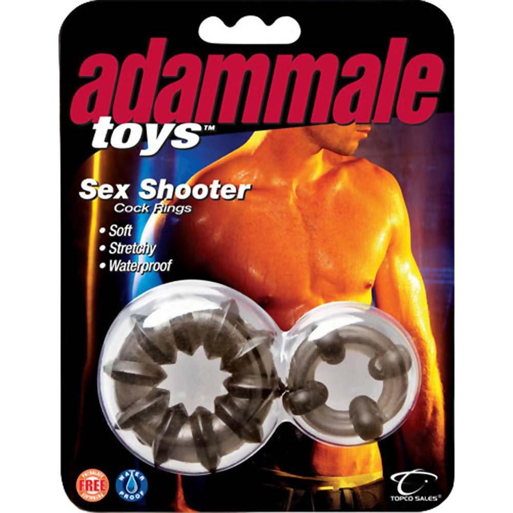 Adam Male Toys Sex Shooter Cock Rings Smoke - View #2