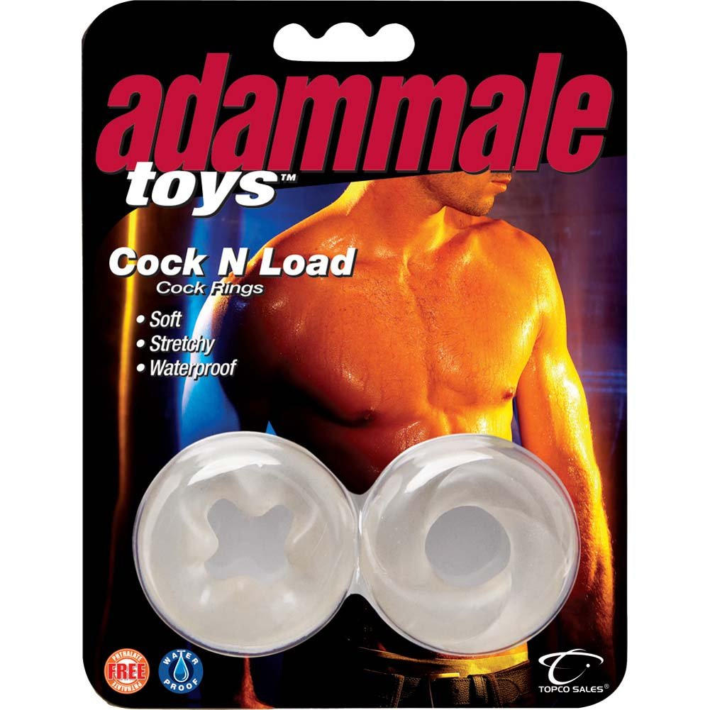 Adam Male Toys Cock N Load Cock Rings Clear - View #2