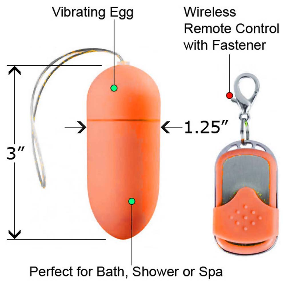 Shots Toys 10 Speed Wireless Remote Controlled Vibrating Egg Orange - View #1