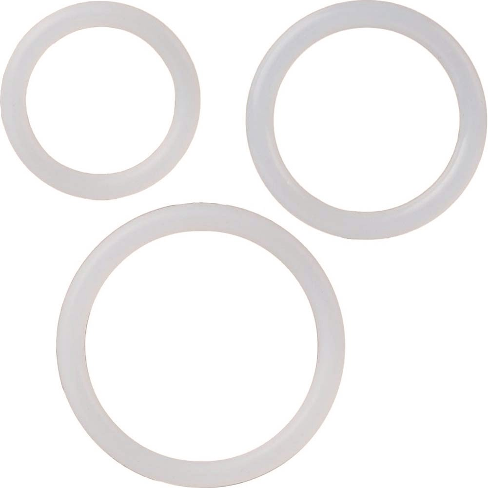 Silicone Support Rings for Men 3 Per Pack Clear - View #2
