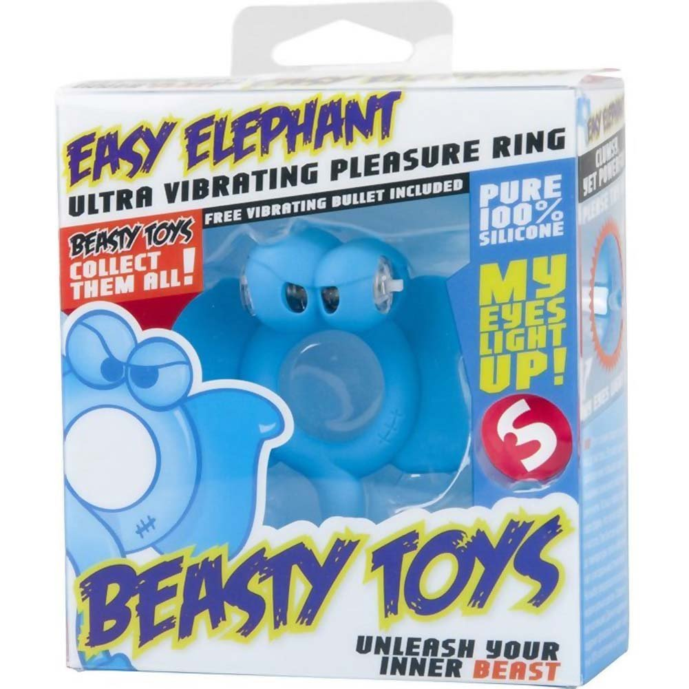 Shots Toys Beasty Toys Vibrating Silicone Cockring Easy Elephant - View #1