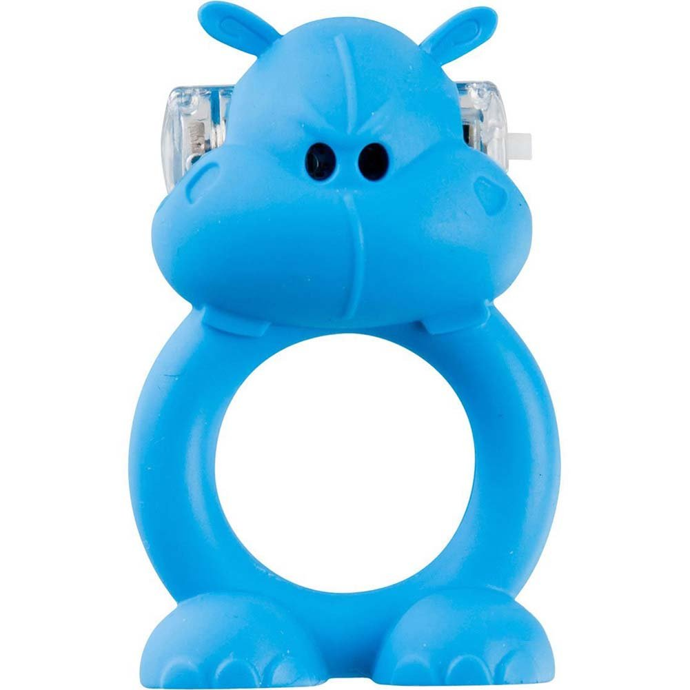 Shots Toys Beasty Toys Vibrating Silicone Cockring Happy Hippo - View #2