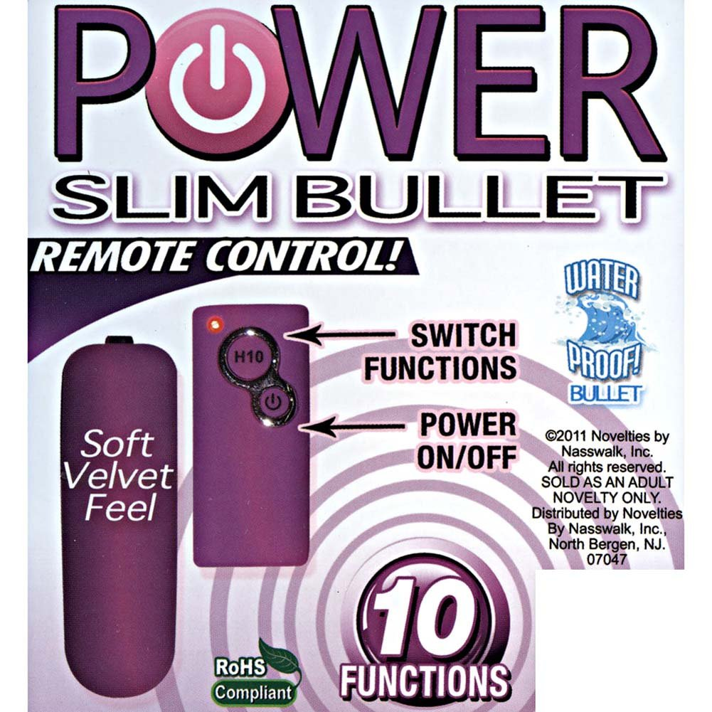 "Power Slim Bullet with 10 Function Wireless Remote 2.5"" Pink - View #3"