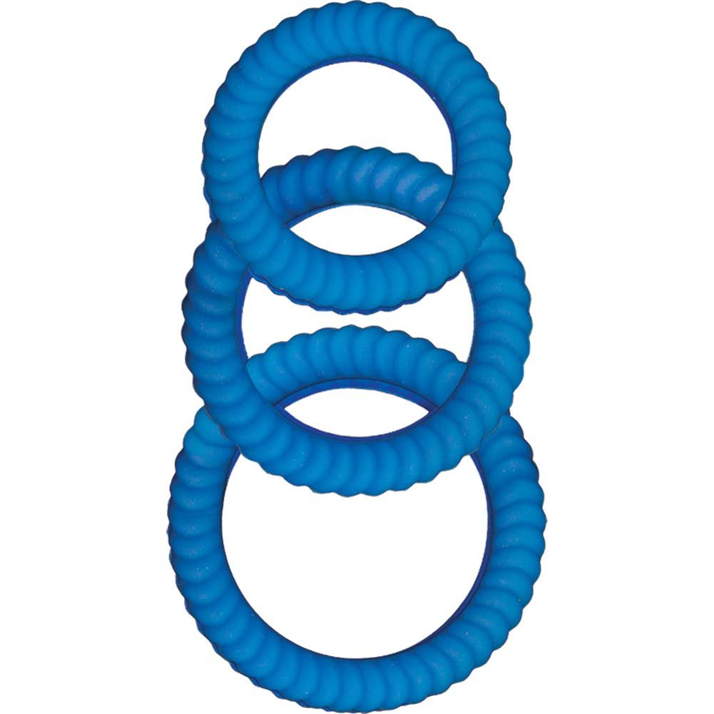 Ram Ultra Cocksweller Silicone Cockring Blue - View #2