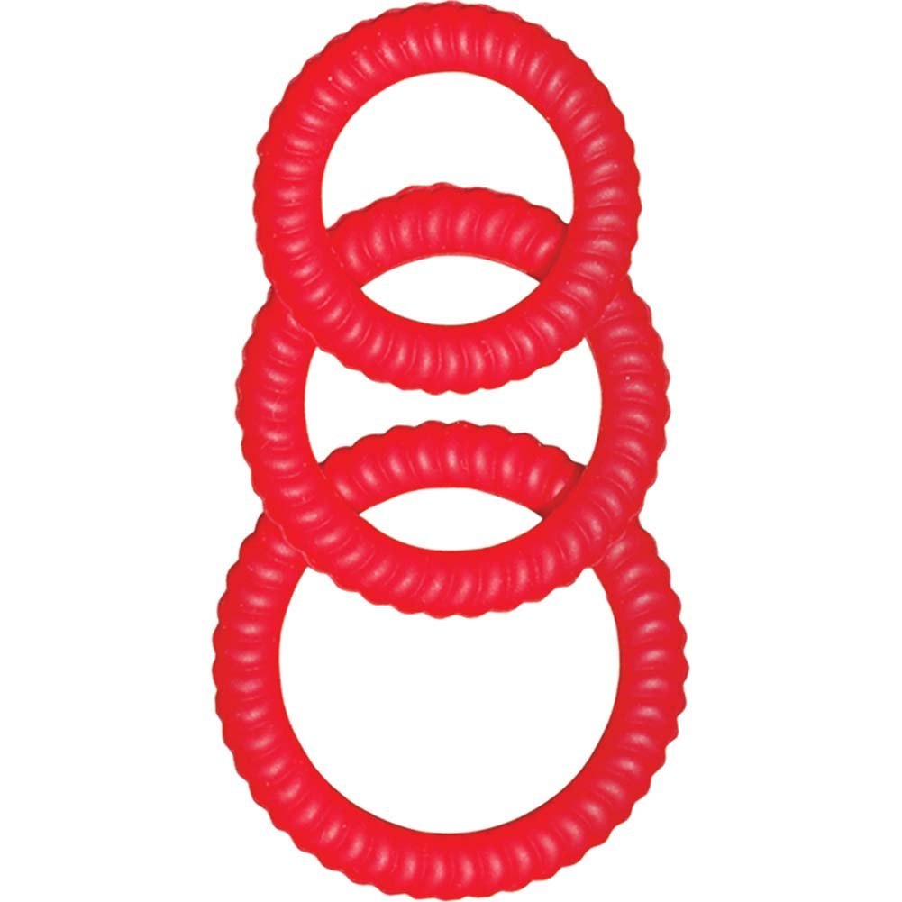 Ram Ultra Cocksweller Silicone Cockring Red - View #2