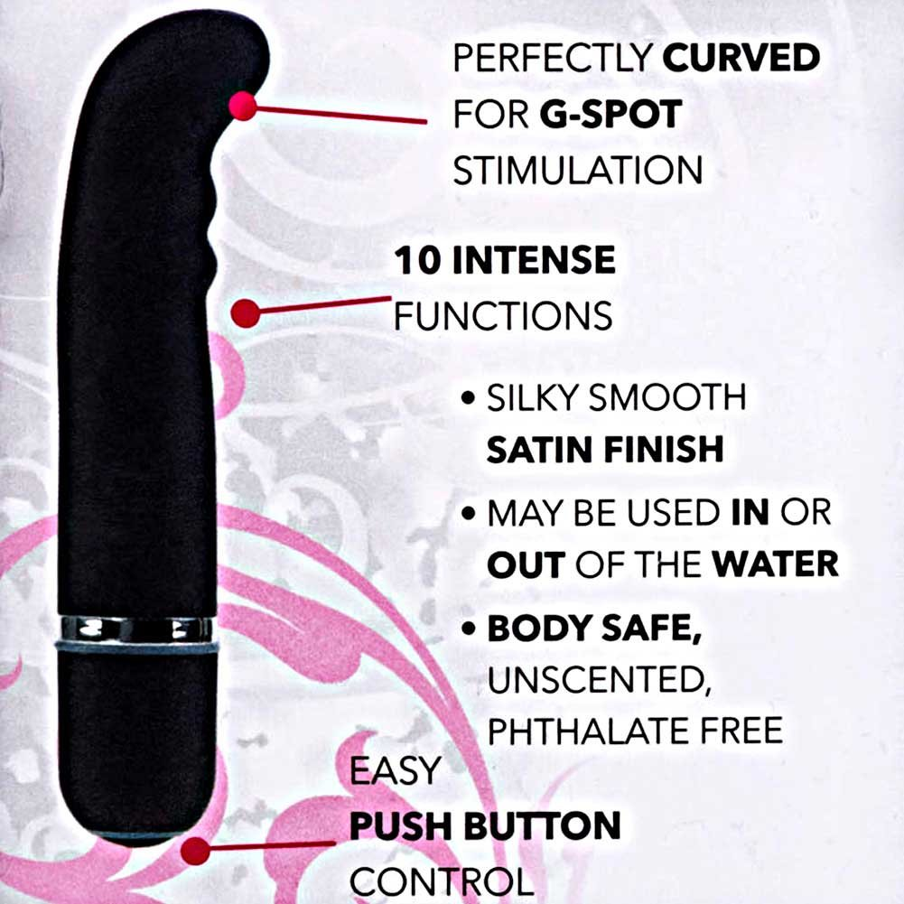 "California Exotics 10 Function Charisma Bliss G-Spot Vibrator 4.5"" Black - View #1"