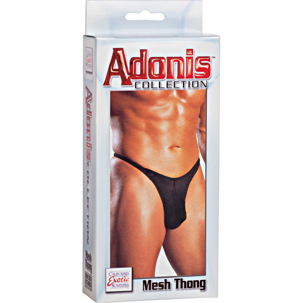 California Exotics Adonis Mesh Thong Black - View #3