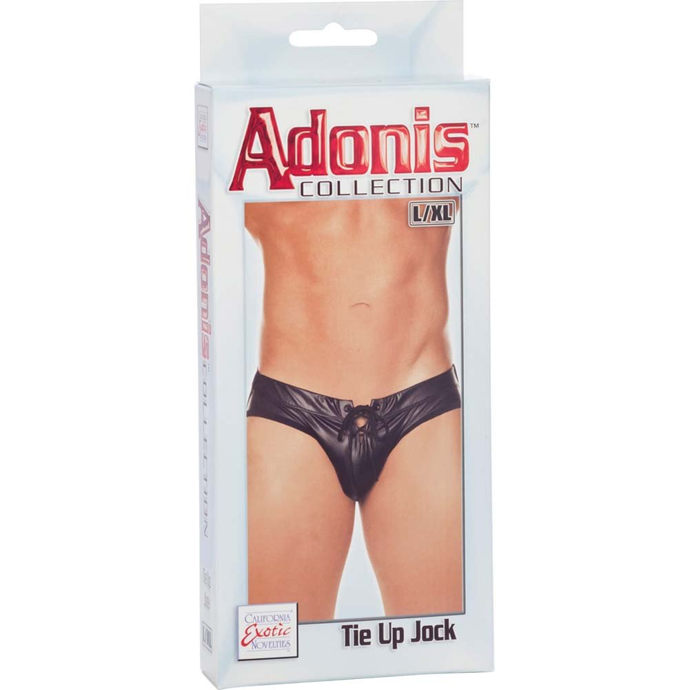 Adonis Collection Tie Up Jock Large/Extra Large Black - View #3