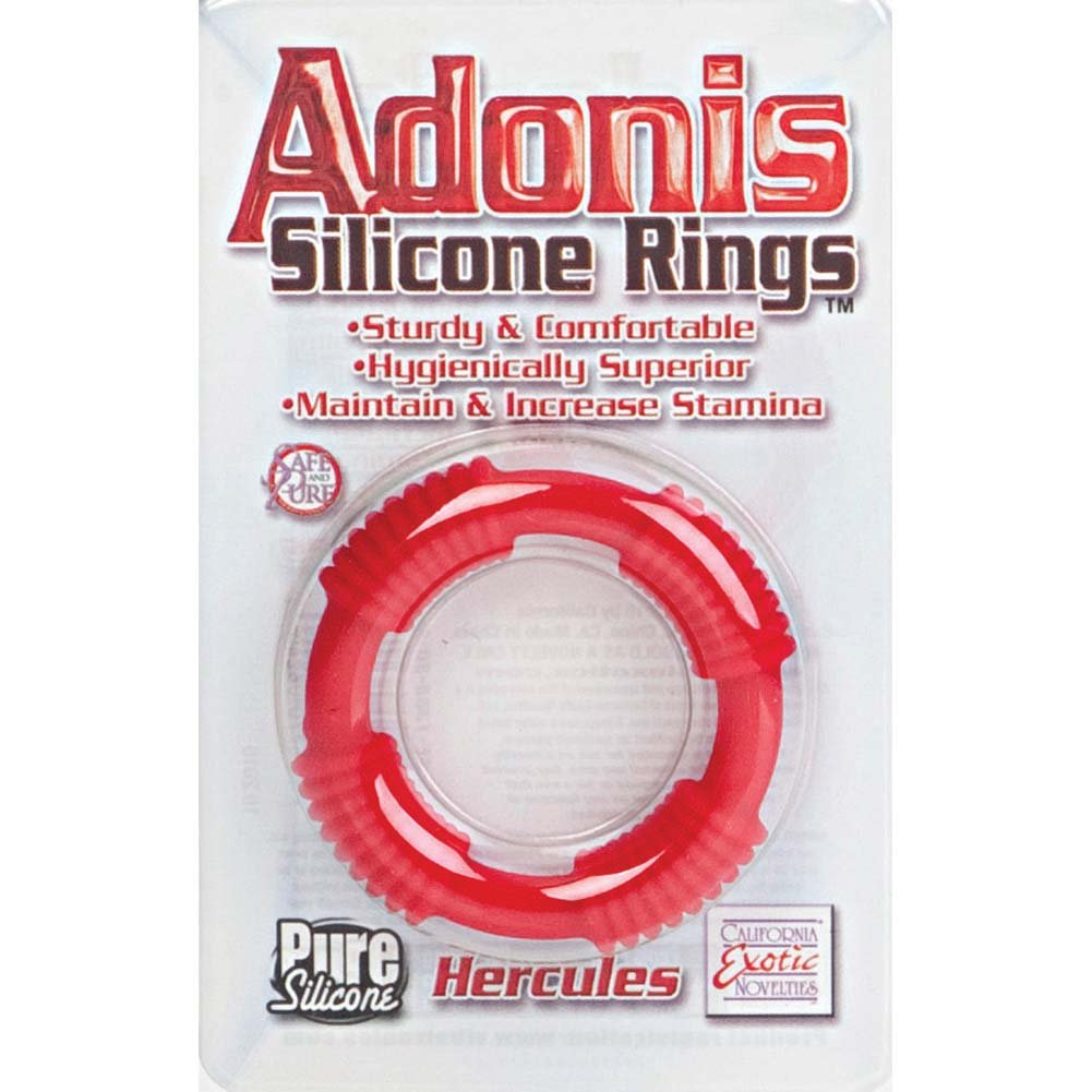 Adonis Silicone Ring Hercules Red - View #1