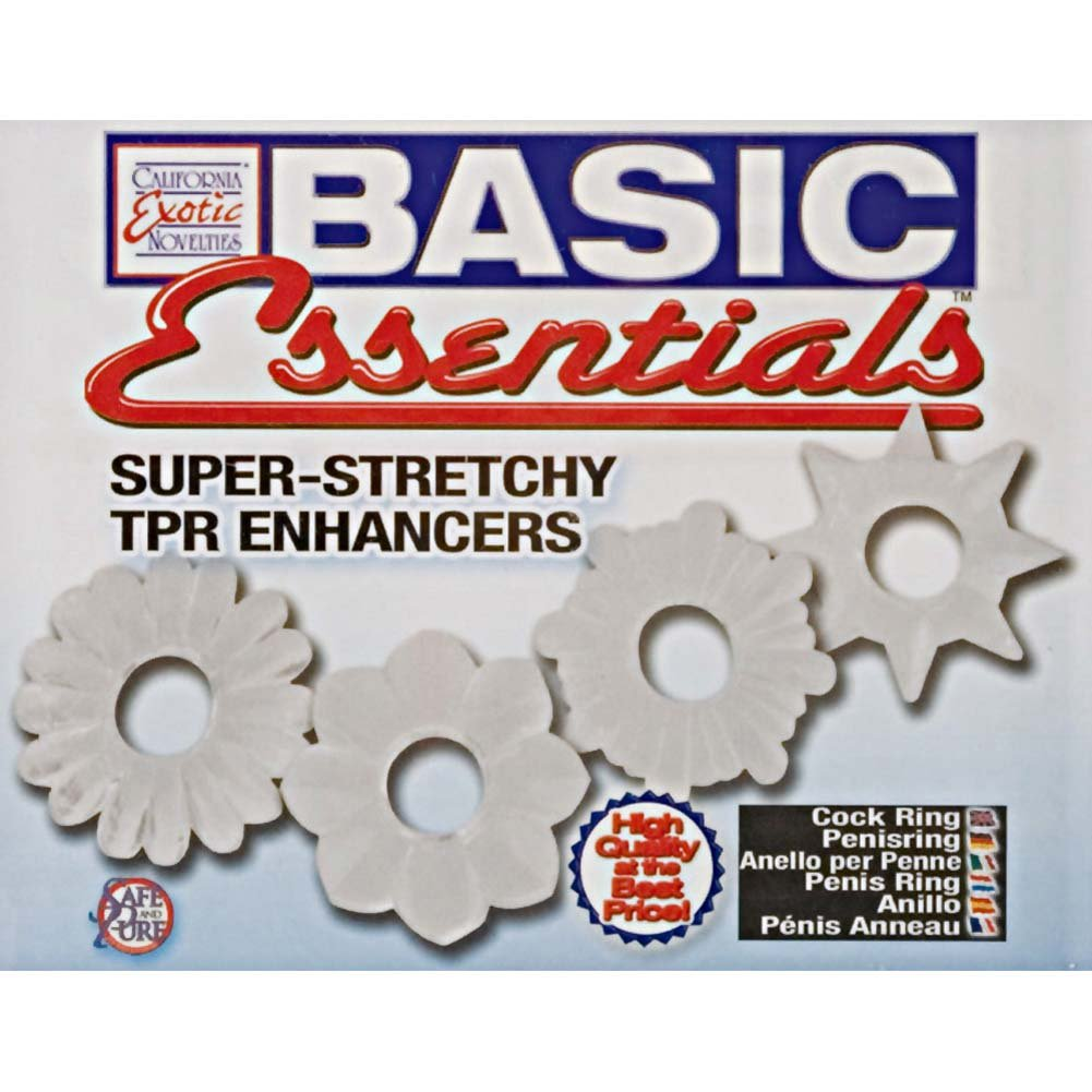 Basic Essentials Super Stretchy TPR Enhancers Clear - View #1