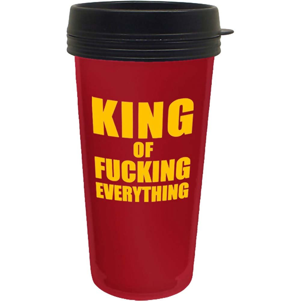 Lebron King Of Fucking Everything Travel Mug - View #1