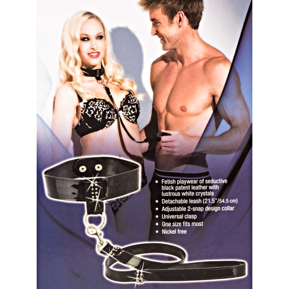 California Exotics Bound by Diamonds Leash and Collar Set Black - View #1