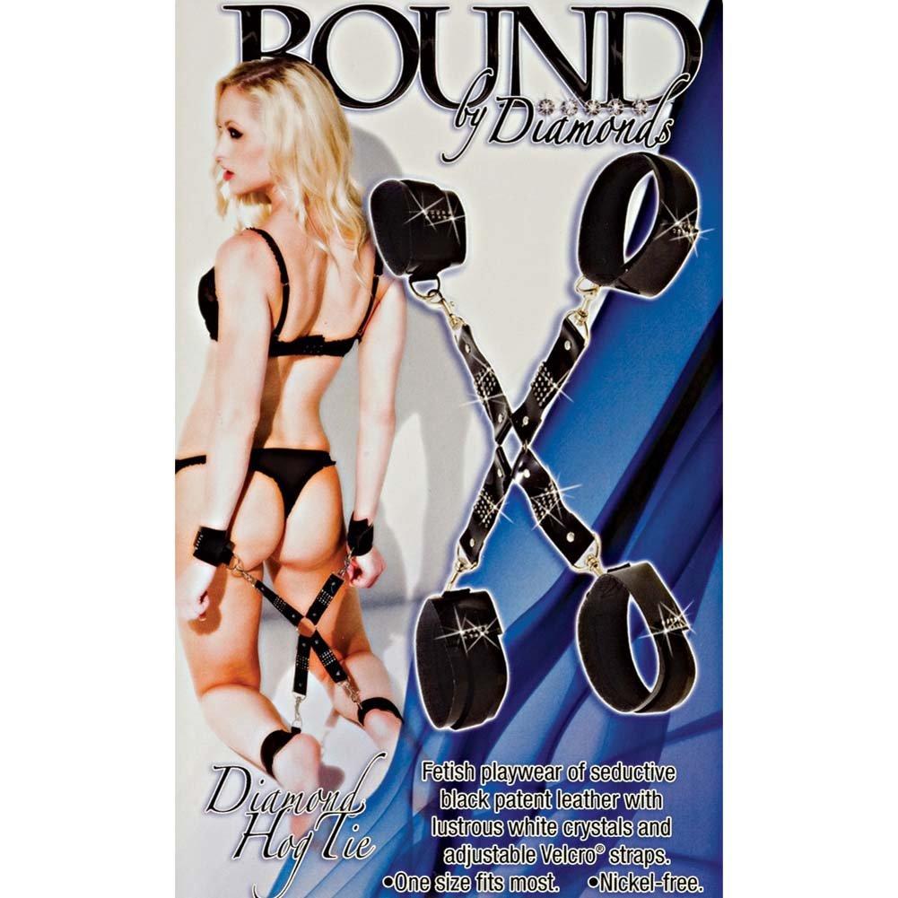 Bound by Diamonds Hog Tie Black - View #1