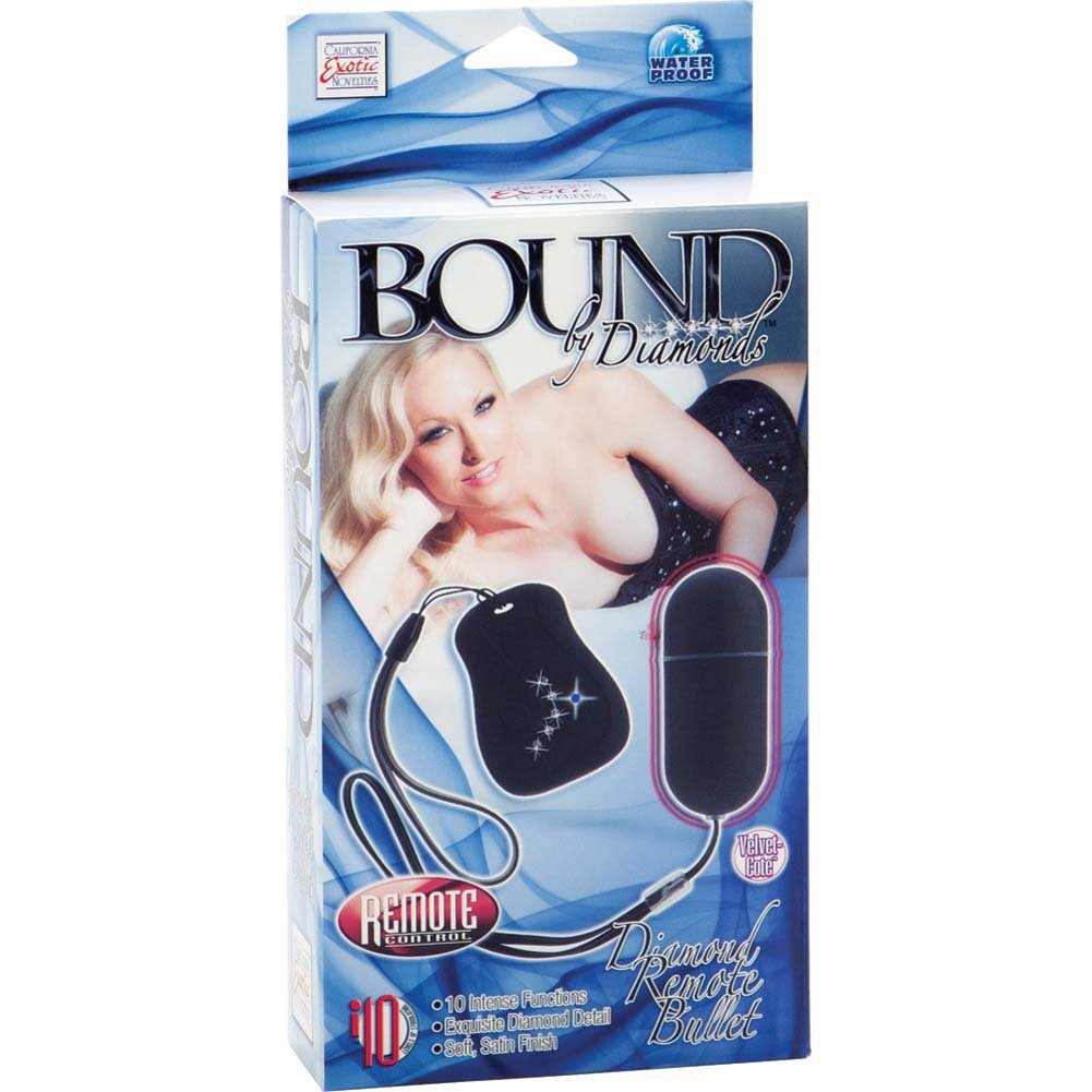 Bound By Diamonds Diamond Remote Control Bullet Black - View #4