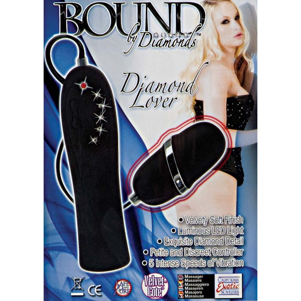 Bound By Diamonds Diamond Lover Vibrating Bullet Black - View #1