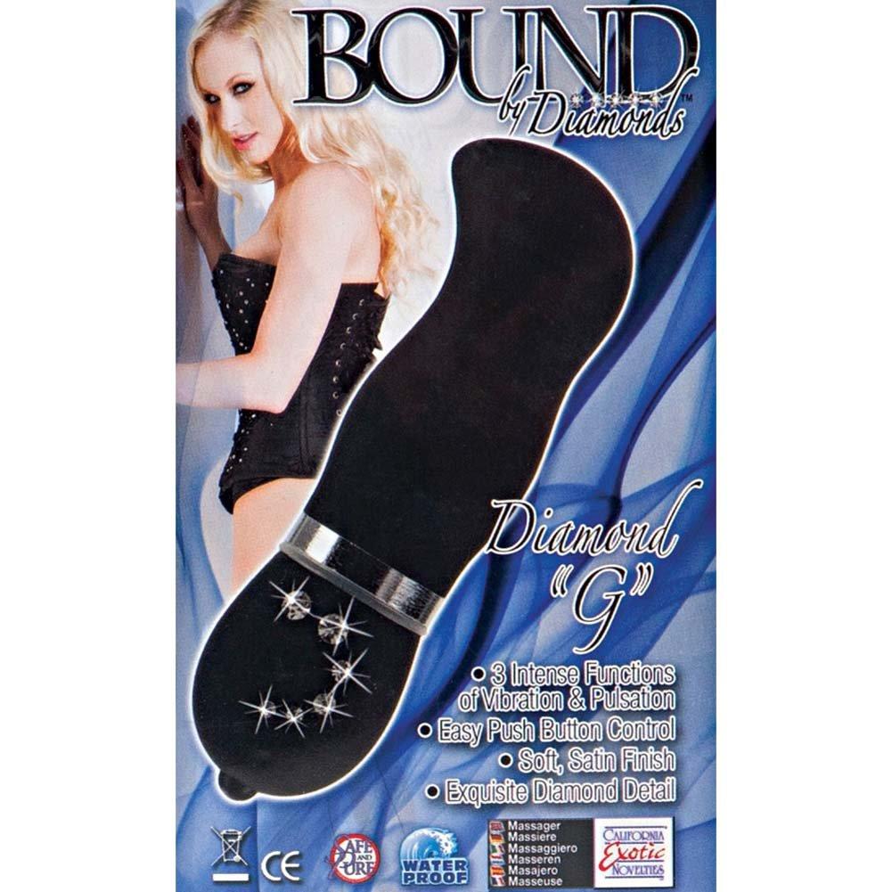 """Bound By Diamonds Diamond G Intimate Vibrator 4"""" Black - View #1"""