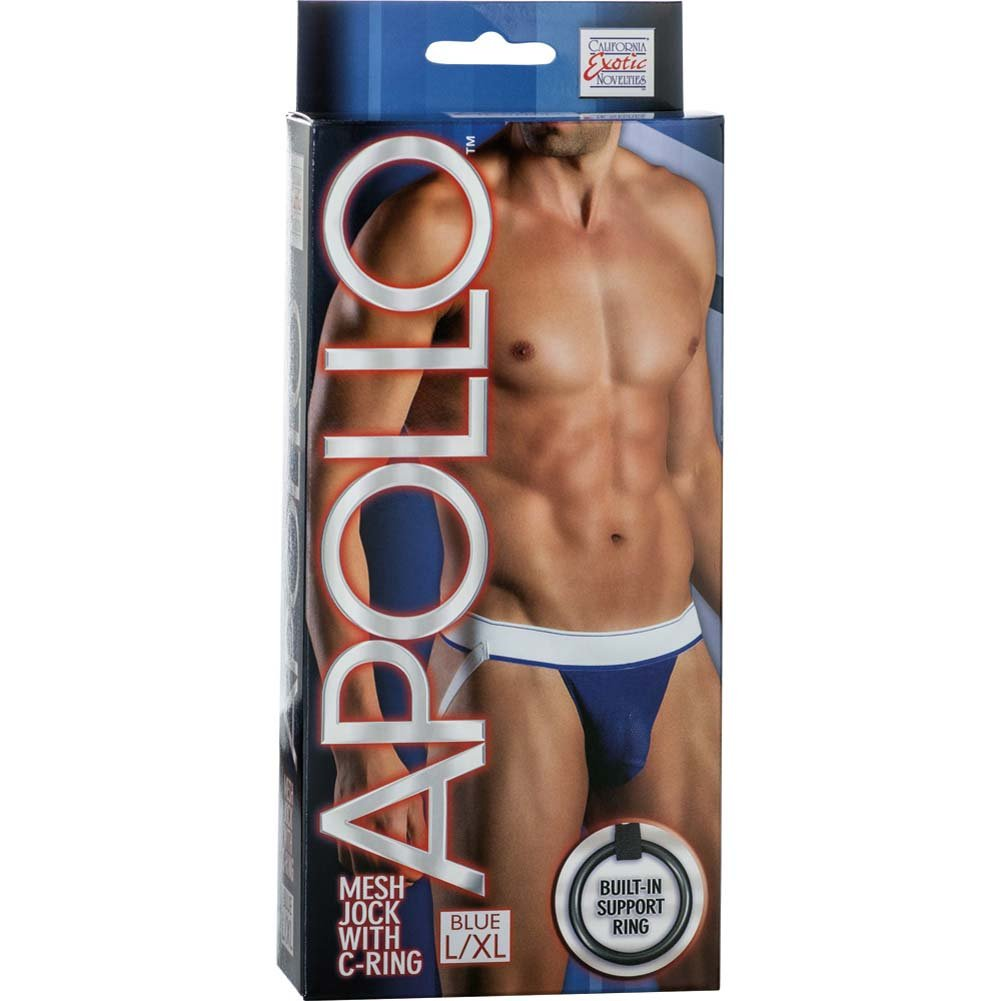 California Exotics Apollo Mesh Jock with C-Ring Blue Large/Extra Large.Size - View #1