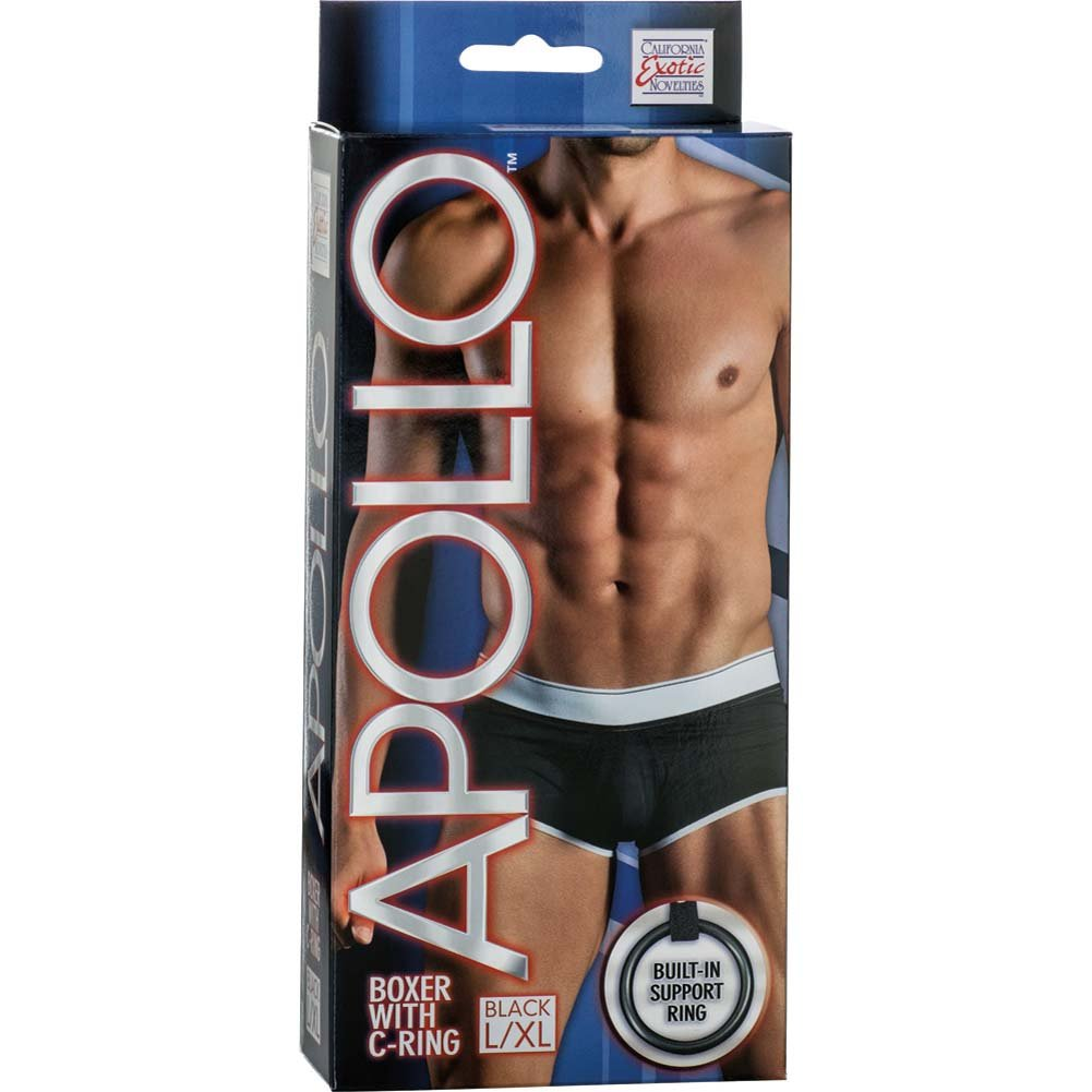 California Exotics Apollo Boxer with C-Ring Black Large/Extra Large Size - View #1