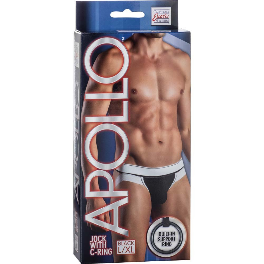 California Exotics Apollo Jock with C-Ring Black Large/Extra Large Size - View #1