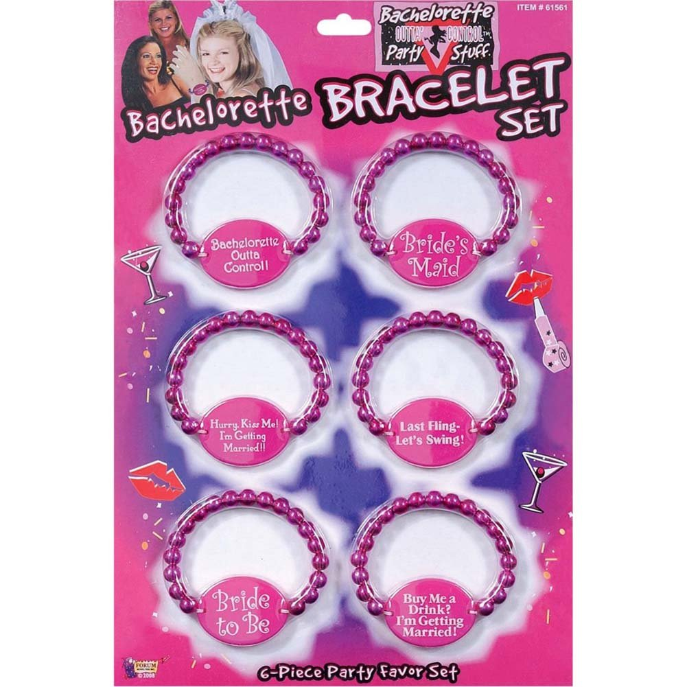 Bachelorette Party Bracelet Set 6 Pieces - View #1