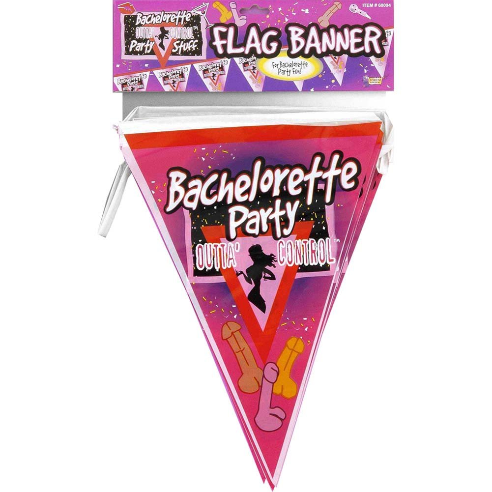 Bachelorette Flag Banner 12 Pieces - View #1