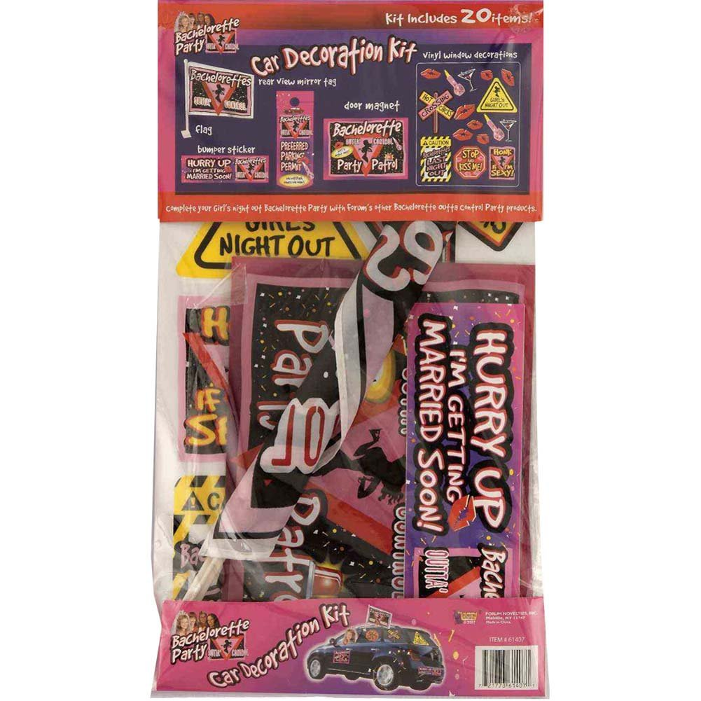 Bachelorette Party Car Decoration Kit - View #1