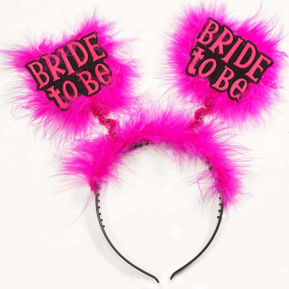Bride To Be Headband Black/Pink - View #1
