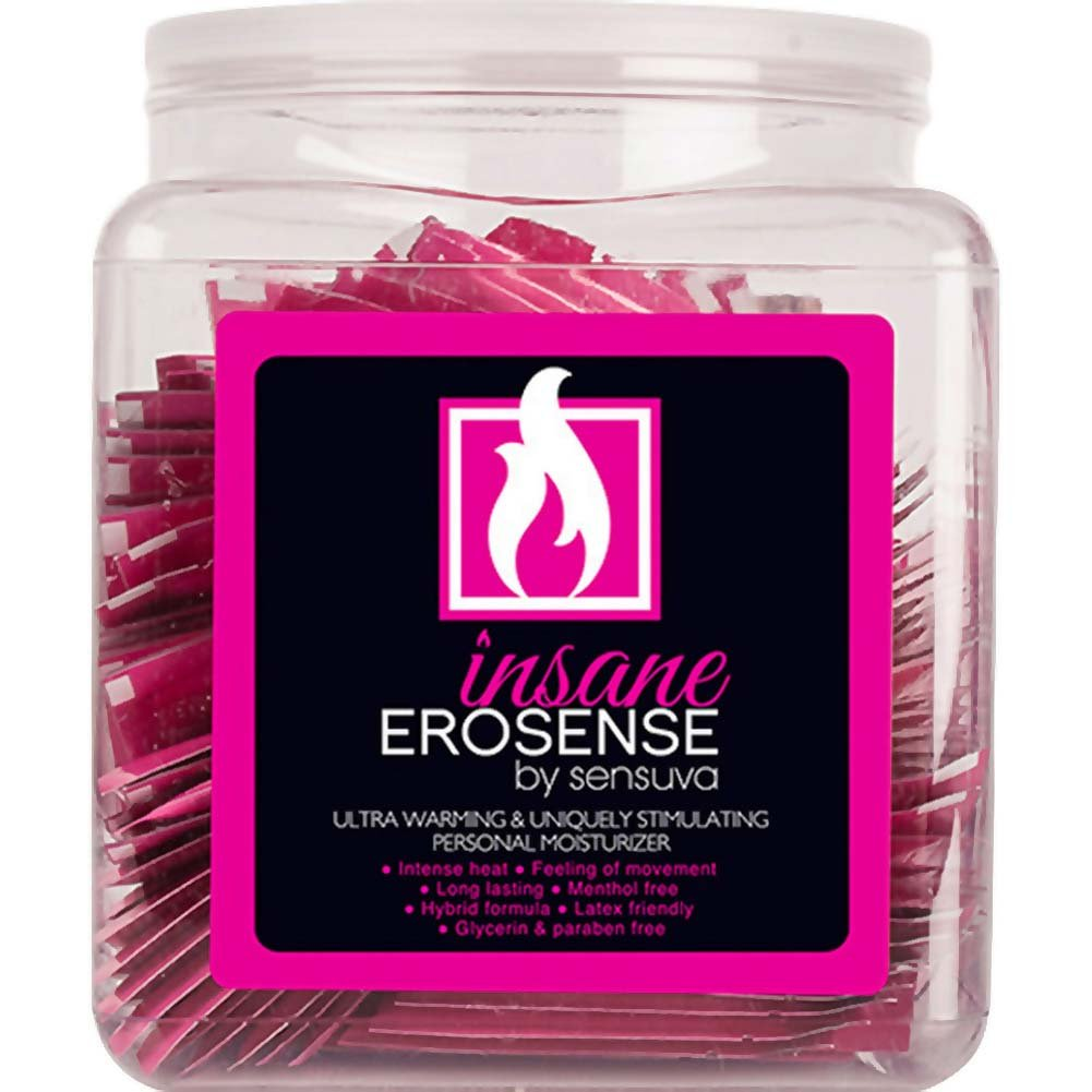 Sensuva Erosense Insane Personal Moisturizer 4.2 Fl. Oz. 100 Pieces Fish Bowl Display - View #1