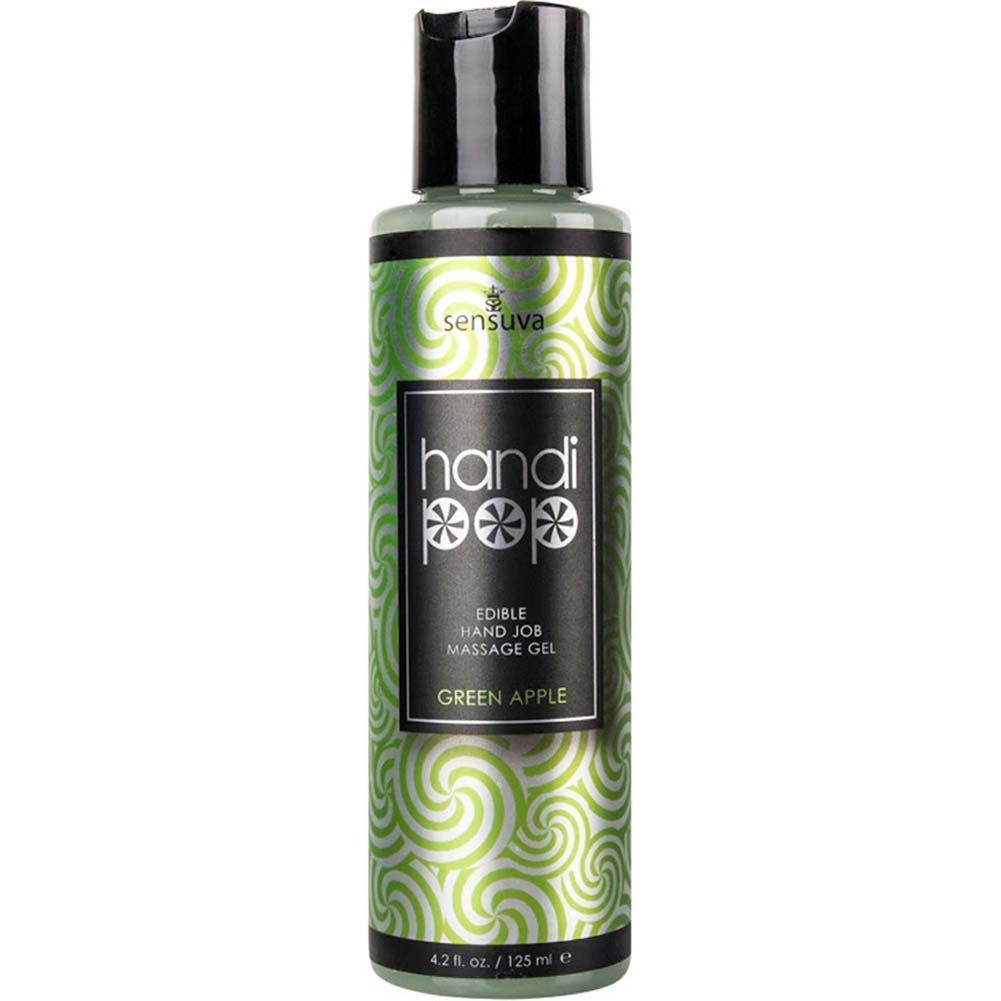 Sensuva HandiPop Handjob Massage Gel Green Apple 4.2 Fl. Oz. - View #1