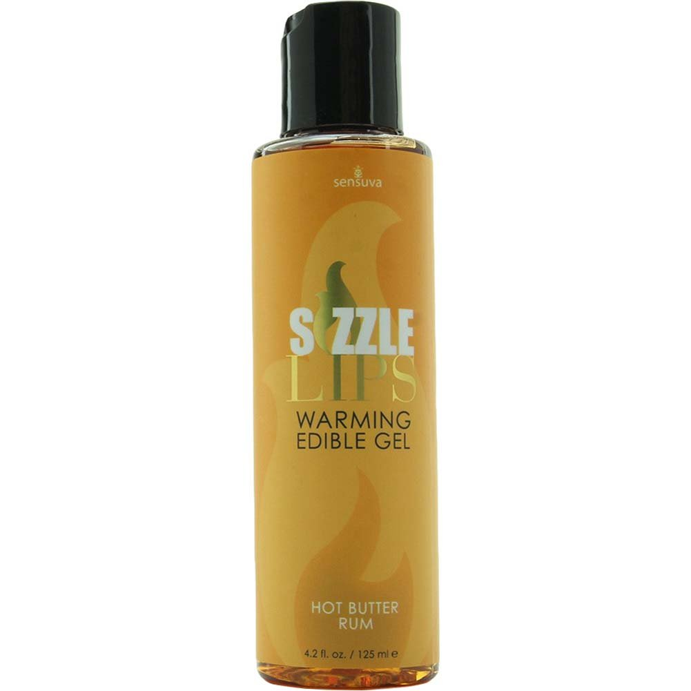 Sensuva Sizzle Lips Edible Warming Gel 4.2 Fl.Oz 125 mL Butter Rum - View #1