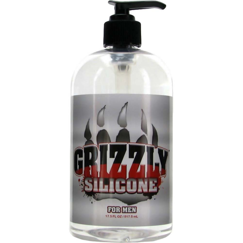 Nature Lovin Lubricants Grizzly Silicone Lube for Men 17.5 Fl. Oz. - View #1