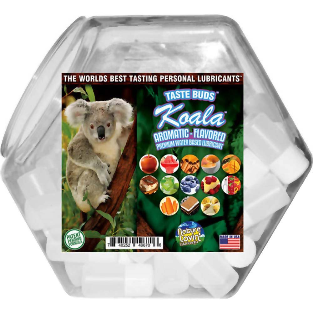 Nature Lovin Lubricants Koala Flavored Lube 5 Fl. Oz. 78 Pieces Fish Bowl Display - View #1