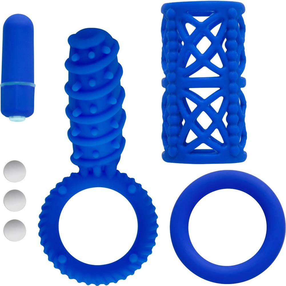 Icon Brands Simply Silicone 10 Function Couples Kit Blue - View #2