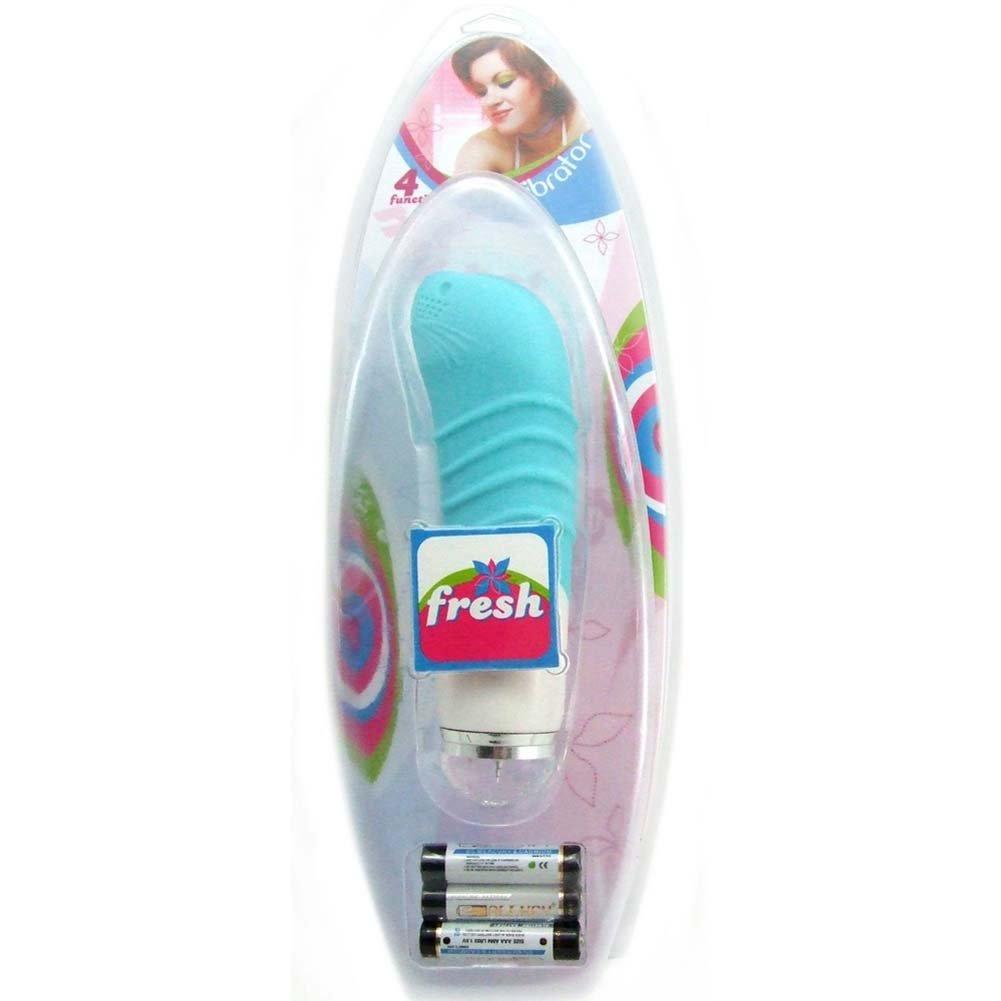 "Fresh My Pet Vibrating Hand Massager 5.5"" Blushing Blue - View #1"
