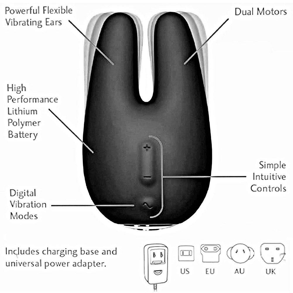 Jimmyjane Form 2 Waterproof USB Rechargeable Intimate Vibrator Slate - View #1