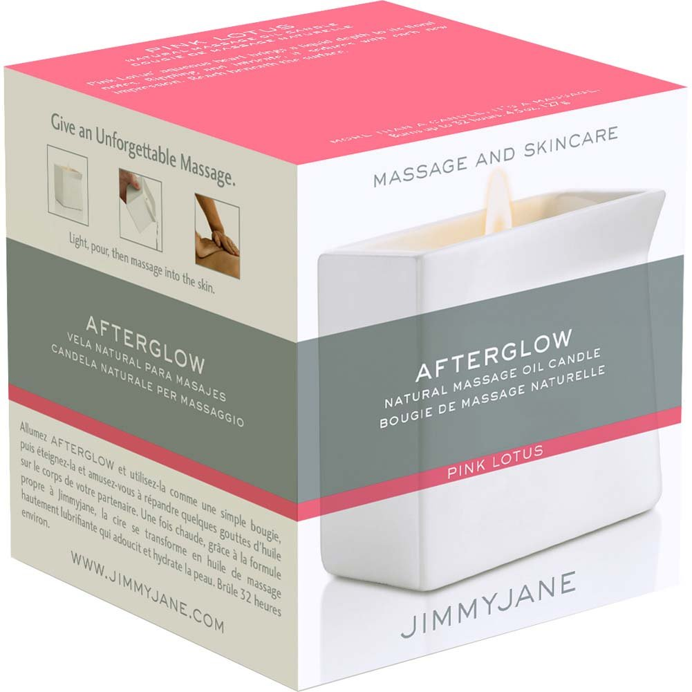 Jimmyjane Afterglow Natural Massage Oil Candle Pink Lotus - View #3