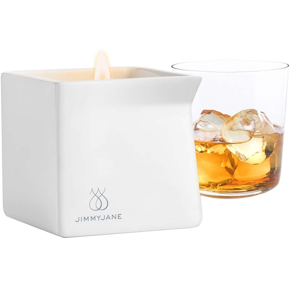 Jimmyjane Afterglow Natural Massage Oil Candle Bourbon - View #2