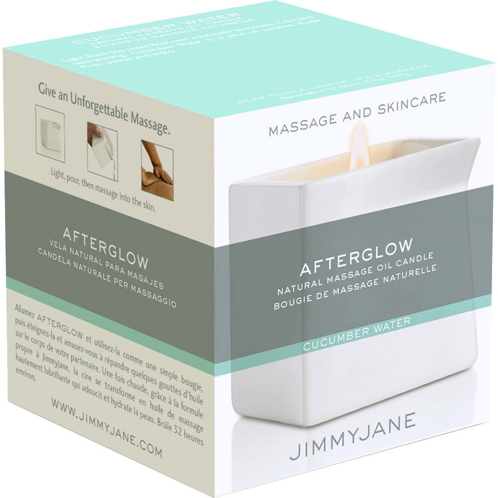 Jimmyjane Afterglow Natural Massage Oil Candle Cucumber Water - View #3