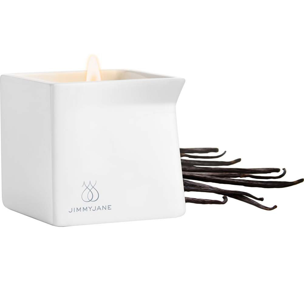 Jimmyjane Afterglow Natural Massage Oil Candle Dark Vanilla - View #2