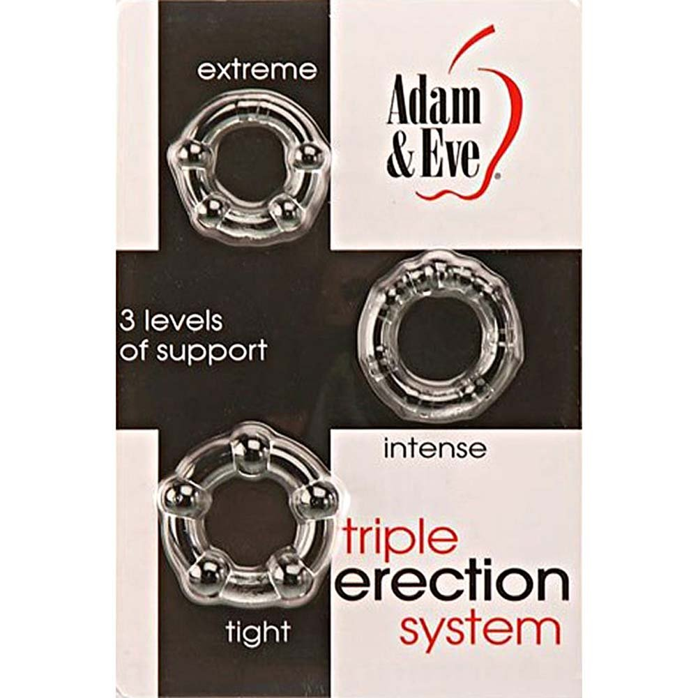 Adam and Eve Triple Erection System Clear - View #4