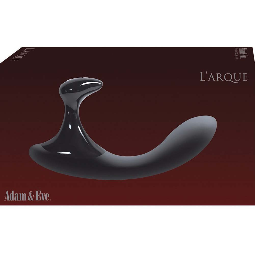 Adam and Eve LArque Rechargeable Silicone Vibrator Black - View #3