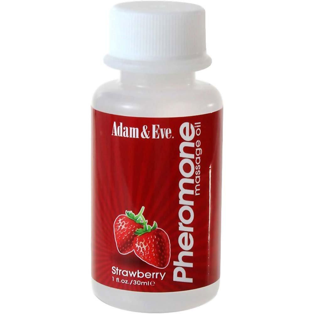 Adam and Eve Pheromone Massage Oil Strawberry 1 Fl. Oz. - View #1