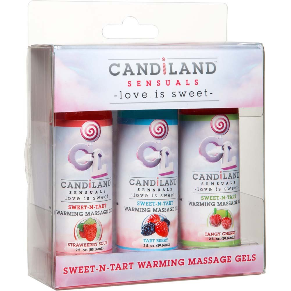 CANDiLAND SENSUALS Sweet-N-Tart Warming Massage Gels 3 Pack 2 Fl.Oz Bottles - View #1