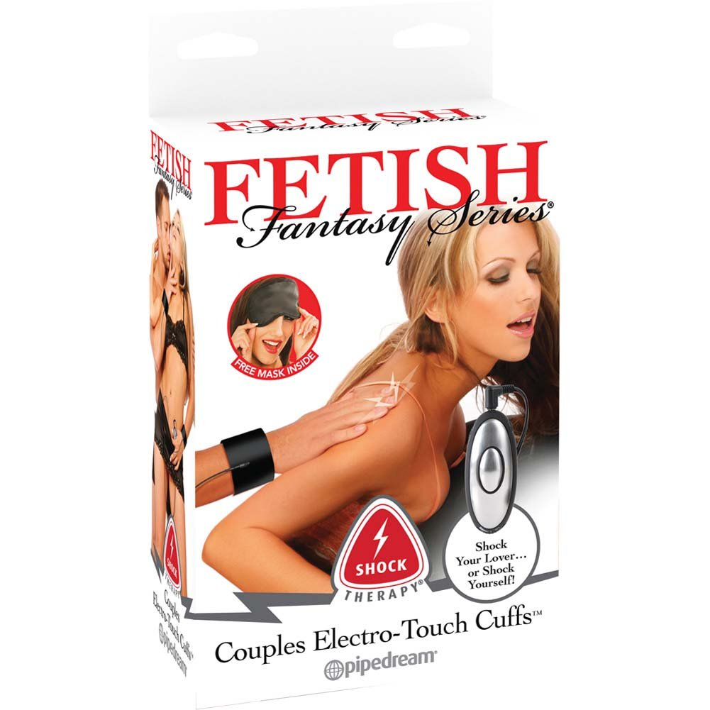 Fetish Fantasy Series Shock Therapy Electro Touch Cuffs Black - View #1