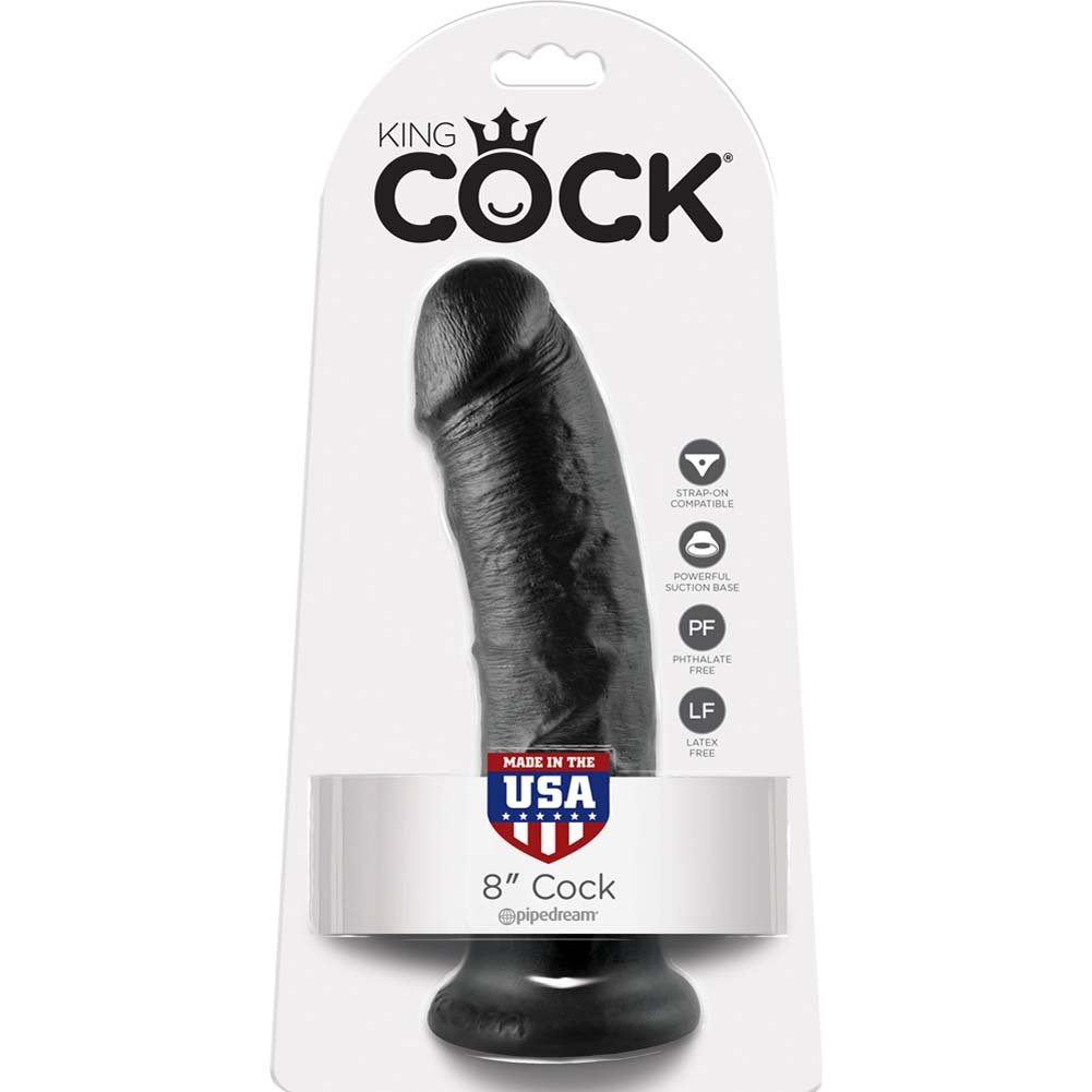 "King Cock 8"" Cock Black - View #4"