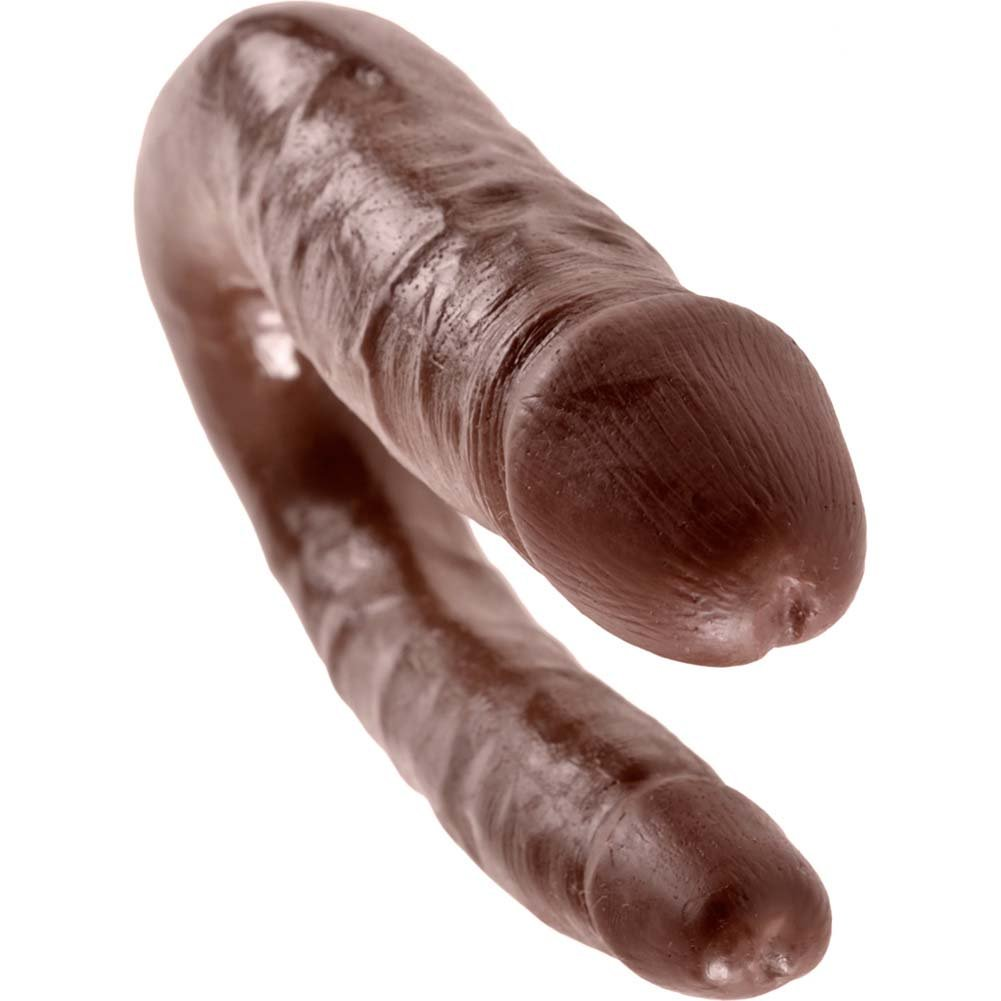 King Cock U-Shaped Small Double Trouble Dildo Brown - View #3