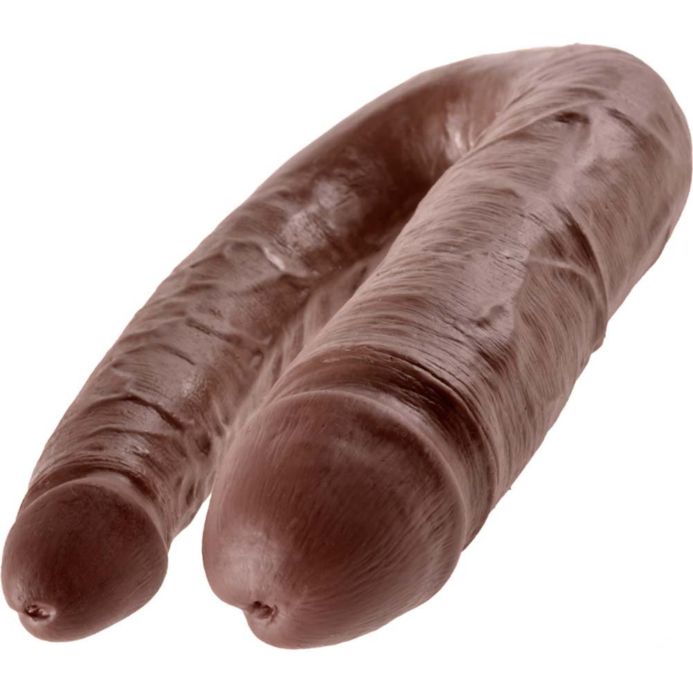 King Cock U-Shaped Large Double Trouble Dildo Brown - View #4