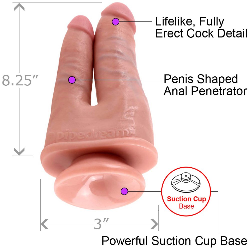King Cock Double Penetrator Dildo Flesh - View #1
