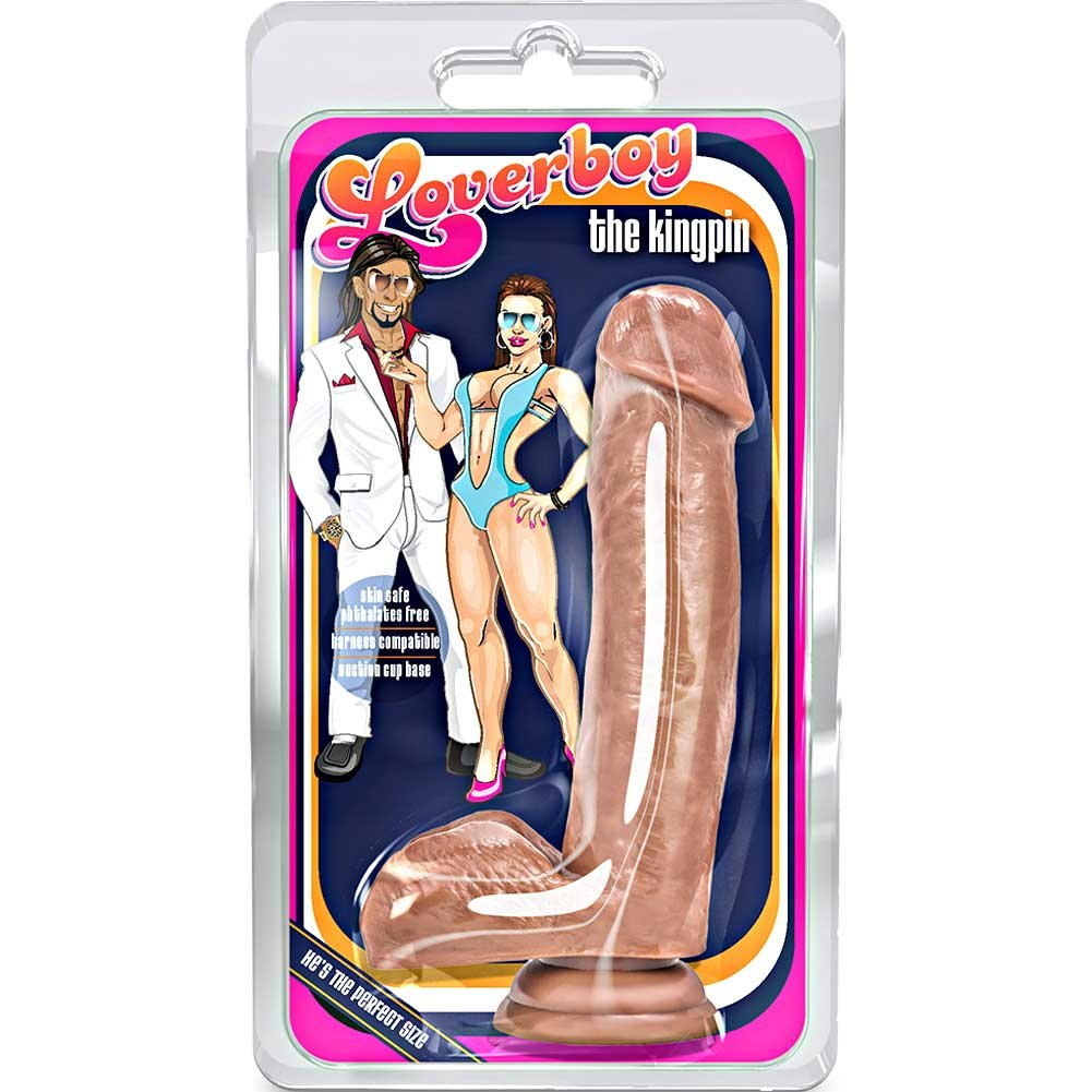 "Blush Loverboy the Kingpin Dildo 7"" Brown - View #1"