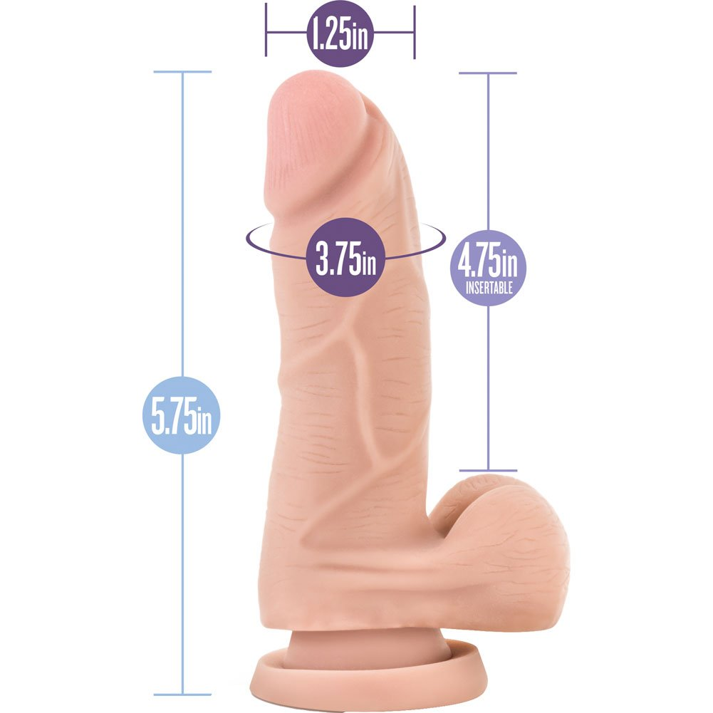 "Blush Au Naturel Mighty Mike Dildo 5.5"" Natural Flesh - View #1"